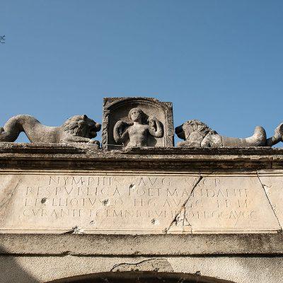 Ulaz u park s ostacima rimskih termi
