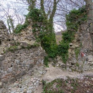 Ostaci ostataka stare ivanovačke utvrde - istočni zid nakon zime